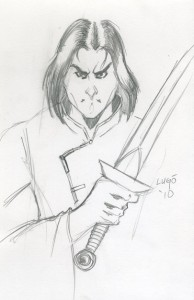 Jeremiah Lange of Once Upon a Time in the Dark sketch by Alex Lugo
